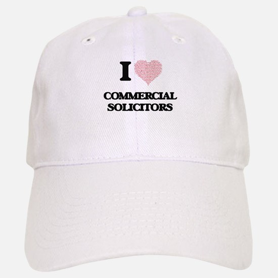 I love Commercial Solicitors (Heart made from Baseball Baseball Cap