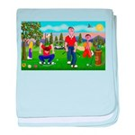 Frustrated Golfers baby blanket