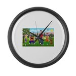Frustrated Golfers Large Wall Clock