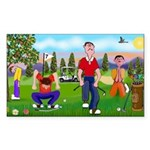 Frustrated Golfers Sticker (Rectangle 50 pk)