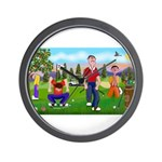 Frustrated Golfers Wall Clock