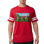 CUP-Cartoon Golfers-letters Mens Football Shir