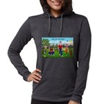 CUP-Cartoon Golfers-letters Womens Hooded Shir