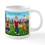 CUP-Cartoon Golfers-letters 20 oz Ceramic Mega