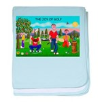 CUP-Cartoon Golfers-letters baby blanket