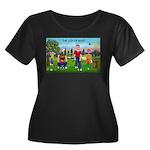 CUP-Cartoon Golfers-letters Women's Plus Size