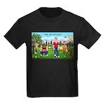 CUP-Cartoon Golfers-letters Kids Dark T-Shirt