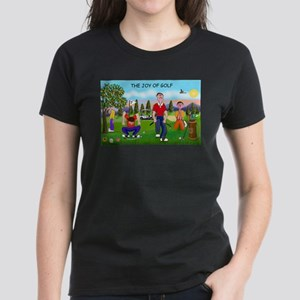 CUP-Cartoon Golfers-letters Women's Classic T-