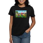 CUP-Cartoon Golfers-letters Women's Classic T-