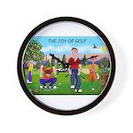 CUP-Cartoon Golfers-letters Wall Clock
