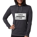 I GOLF-Blk on white Womens Hooded Shirt