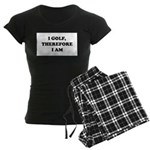 I GOLF-Blk on white Women's Dark Pajamas