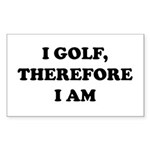 I GOLF-Blk on white Sticker (Rectangle 50 pk)