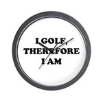 I GOLF-Blk on white Wall Clock