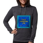 I GOLF-TURQ-Fancy1 Womens Hooded Shirt