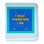 I GOLF-TURQ-Fancy1 baby blanket