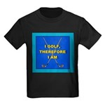 I GOLF-TURQ-Fancy1 Kids Dark T-Shirt