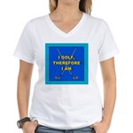 I GOLF-TURQ-Fancy1 Women's V-Neck T-Shirt