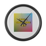 I GOLF-Gradient Large Wall Clock