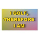 I GOLF-Gradient Sticker (Rectangle 50 pk)