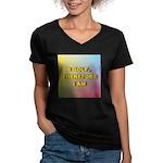 I GOLF-Gradient Women's V-Neck Dark T-Shirt