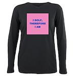 I GOLF-pink Plus Size Long Sleeve Tee