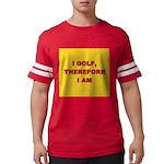 I GOLF-yellow-redletters Mens Football Shirt