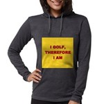 I GOLF-yellow-redletters Womens Hooded Shirt