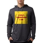 I GOLF-yellow-redletters Mens Hooded Shirt