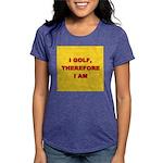 I GOLF-yellow-redletters Womens Tri-blend T-Sh