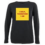I GOLF-yellow-redletters Plus Size Long Sleeve
