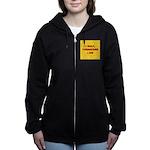 I GOLF-yellow-redletters Women's Zip Hoodie