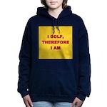 I GOLF-yellow-redletters Women's Hooded Sweats