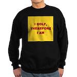 I GOLF-yellow-redletters Sweatshirt (dark)