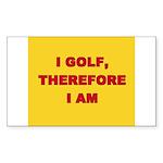 I GOLF-yellow-redletters Sticker (Rectangle 50