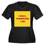 I GOLF-yellow-redletters Women's Plus Size V-N