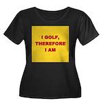 I GOLF-yellow-redletters Women's Plus Size Sco