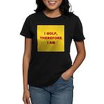 I GOLF-yellow-redletters Women's Classic T-Shi