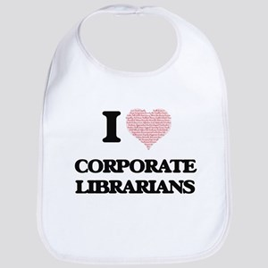 I love Corporate Librarians (Heart made from w Bib