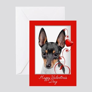 Love You More! Terrier Valentine Greeting Cards