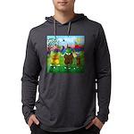 TILE-GolfingFROGS2 Mens Hooded Shirt