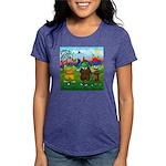 TILE-GolfingFROGS2 Womens Tri-blend T-Shirt