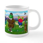 TILE-GolfingFROGS2 20 oz Ceramic Mega Mug