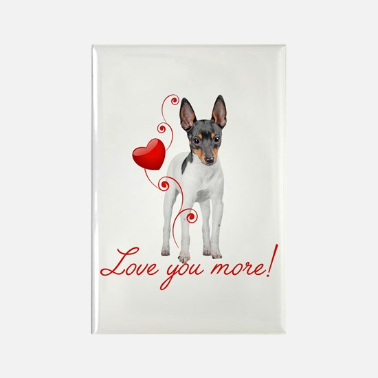 Love You More! Terrier Magnets