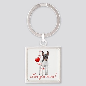 Love You More! Terrier Keychains
