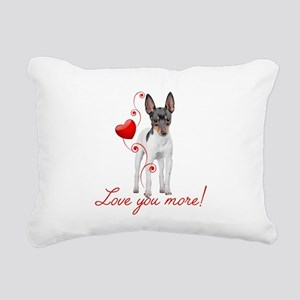 Love You More! Terrier Rectangular Canvas Pillow
