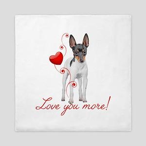 Love You More! Terrier Queen Duvet
