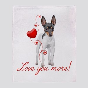 Love You More! Terrier Throw Blanket
