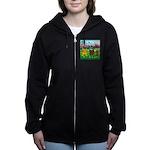 TILE-GolfingFROGS2 Women's Zip Hoodie