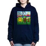 TILE-GolfingFROGS2 Women's Hooded Sweatshirt